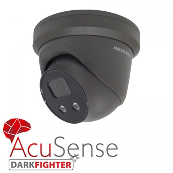 Hikvision Darkfighter 4MP Fixed Len Grey Camera with Microphone