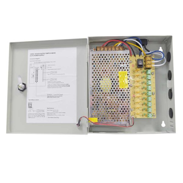 CCTV Power supply boxed