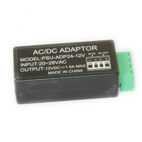 24 Volts AC to 12 Volts DC Adaptor